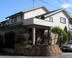 筑紫野市上古賀S邸 住宅壁・屋根塗装 ビフォー